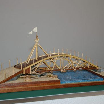 Leonardo's swinging bridge